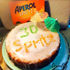 Aperol Spritz birthday cake