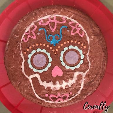 Día De Los Muertos Mexican crunch brownie cake