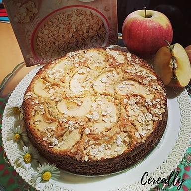Apple oatmeal cake