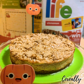 Pumpkin streusel cheesecake with LIFE Cinnamon