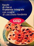 FIOCCHI DI RISO E FRUMENTO INTEGRALE Con Scaglie Di Cioccolato Fondente