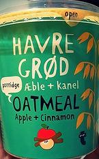 HAVRE GRØD æble + kanel