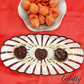Oatmeal chocolate chip cheesecake hearts