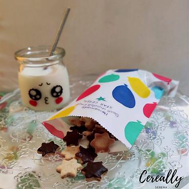 Homemade Dark chocolate & maple star cereal
