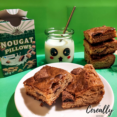 Nougat Pillows Blondies