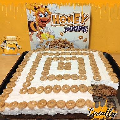 Zucchini honey snack cake with Honey Hoops