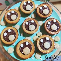 Banana & Nutella mini cheesecakes