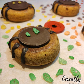 Rainbow spider donuts