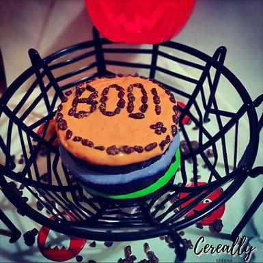Halloween mini naked cake