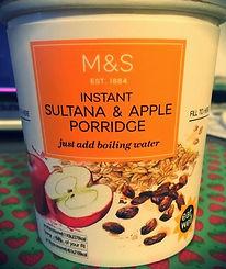 Instant Sultana & Apple Porridge