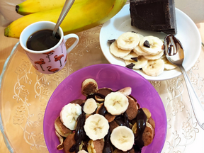 Chocolate & banana pancake cereal