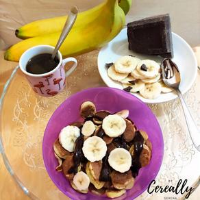 Chocolate & banana pancake cereal