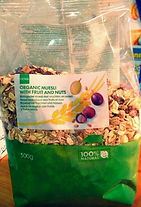 Organic Muesli With Fruit And Nuts