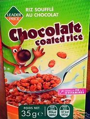 Chocolate coated rice