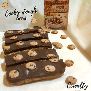 Cookie dough bars with Cookie Cereal