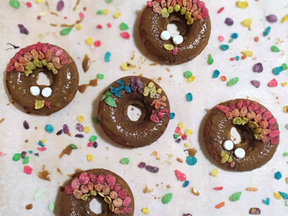 Thanksgiving pumpkin donuts