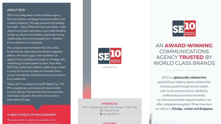 SE10 Credentials Brochure — 1