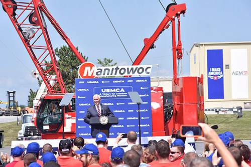 U.S. Vice President Mike Pence tours Manitowoc facilities in Pennsylvania