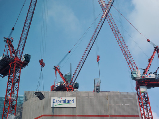 Singapore's first Potain MCR 295 builds CapitaSpring skyscraper