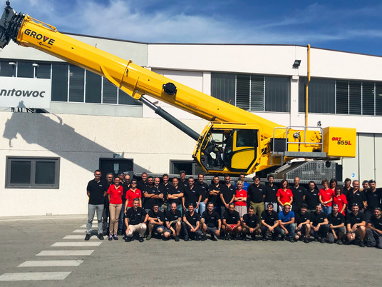 Manitowoc's Niella Tanaro plant adds new GRT655/655L cranes to production line-up