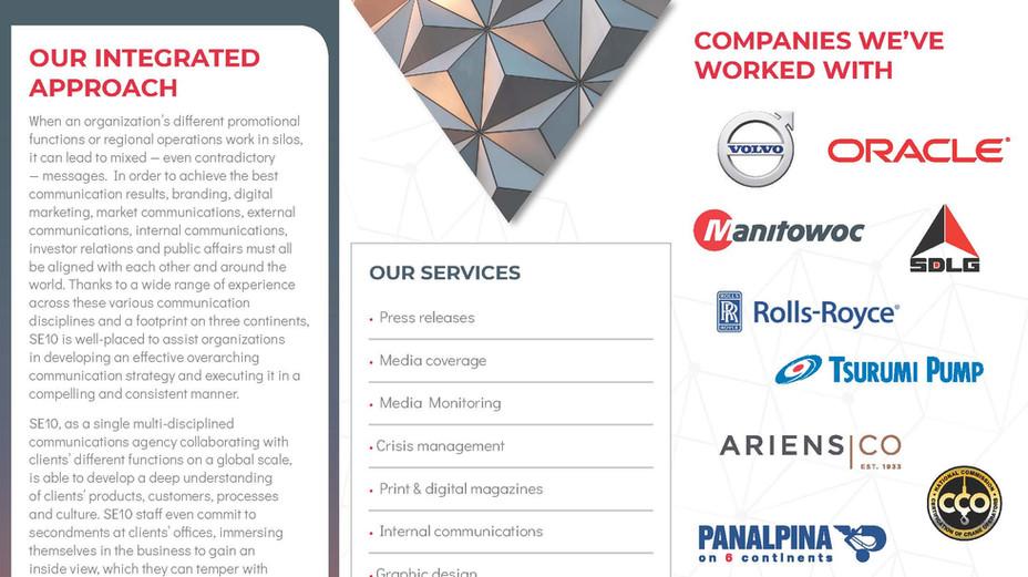SE10 Credentials Brochure — 2