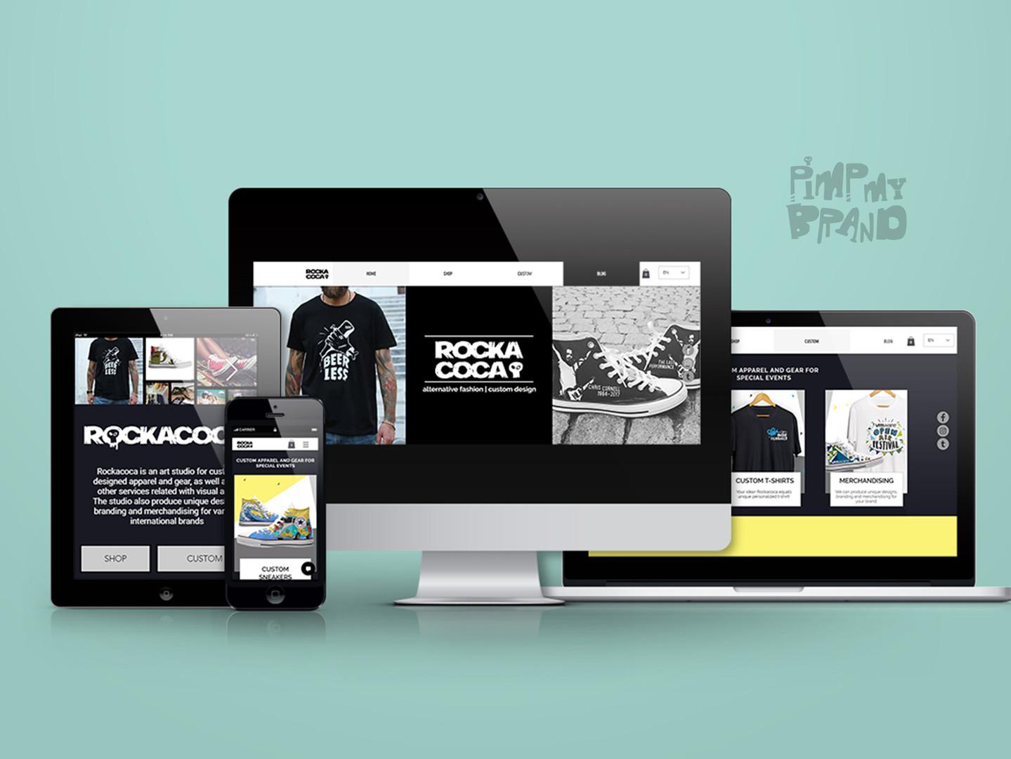 Rockacoca Store Website Design