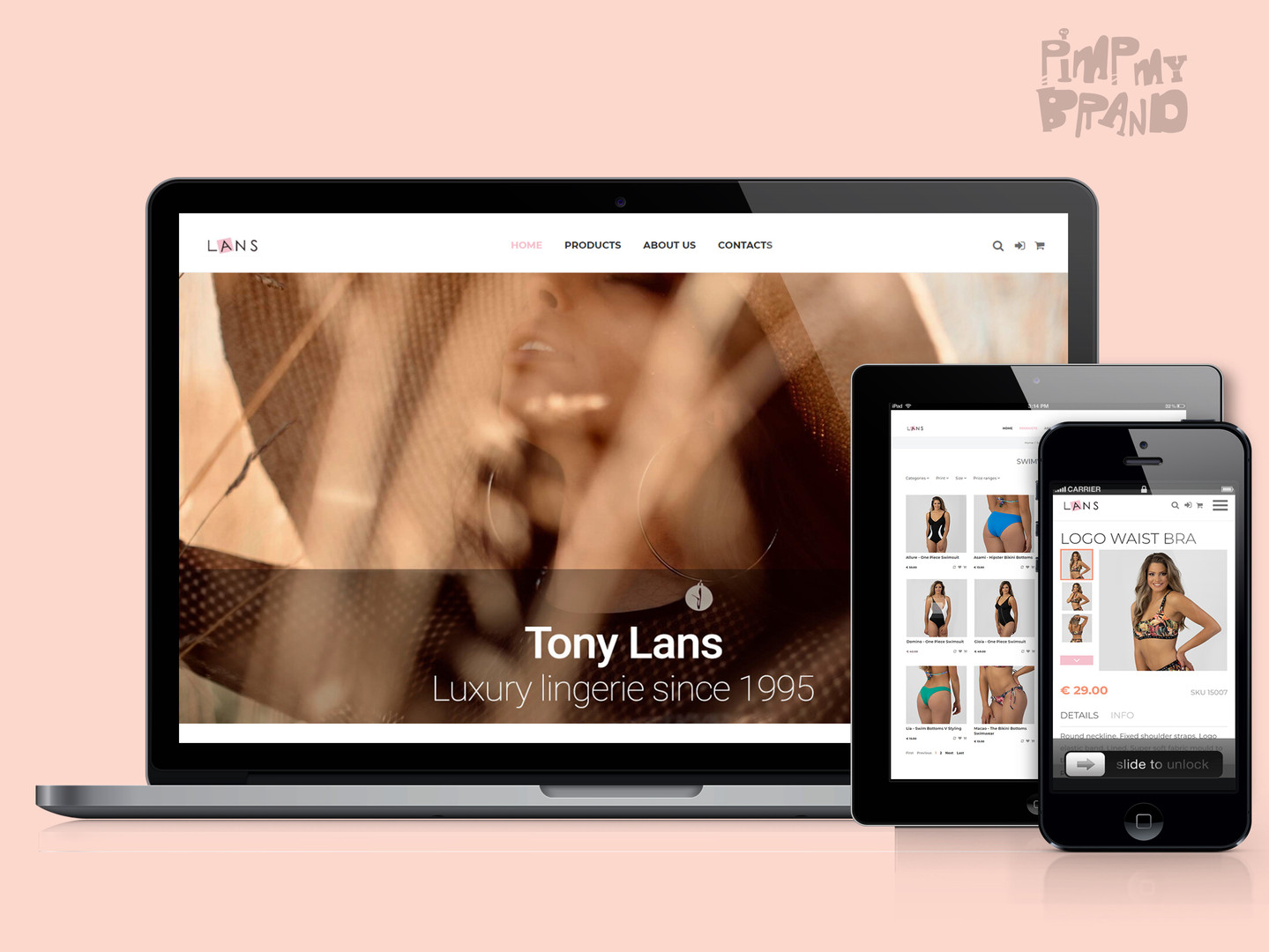 Tony Lans Store Website Design