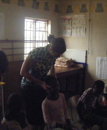 Adjusting the children at Ivordale Orphanage