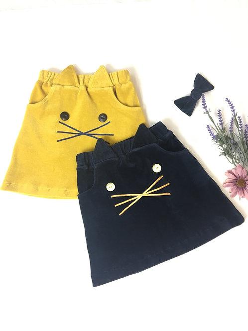 Organic Velvet Cat Skirt