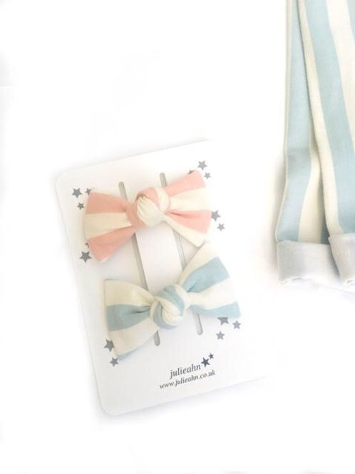 Organic Cotton Hair Clips Set of 2