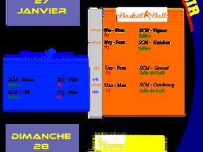 Agenda Sportif SCM du 27/01