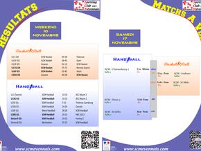 Résultats & Agenda du 17 novembre