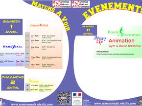 Agenda des 1er et 2 avril