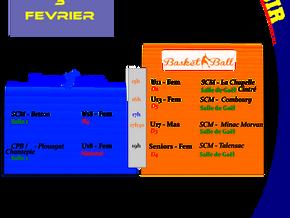 Agenda Sportif SCM du 03/02