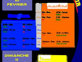 Agenda Sportif SCM des 10/02-11/02