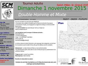 Tournoi Adulte du 1er Novembre - Double Homme et Double Mixte