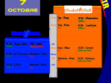 Agenda Sportif SCM du weekend