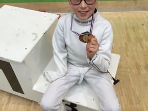 Un médaillé de bronze chez les pupilles!