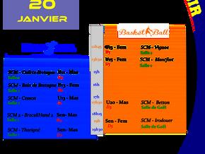 Agenda Sportif SCM du 20/01