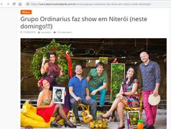 Grupo Ordinarius faz show em Niterói