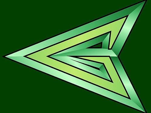 Arrowhead  (Green & White Blend)