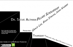 Pillars Scholarship Presentations 2015