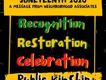 Public Kinship For Juneteenth 2020