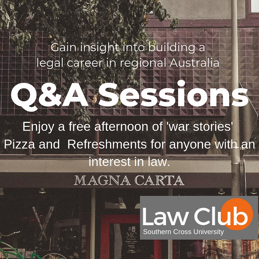 Q&A Sessions - Gain insight into building a legal career in regional Australia