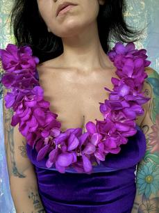 mokara orchid lei