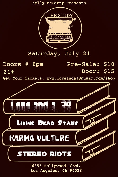 Love and a .38 at The Study 7/21