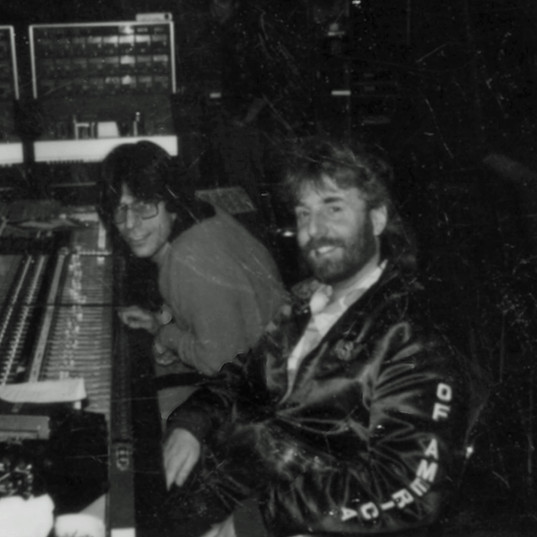 Dennis Kirk and Andrew in the studio