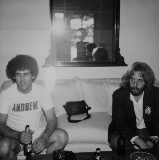 Andrew Gold and his manager