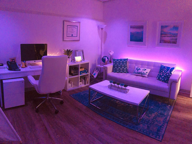 Teen and adolescent therapy room