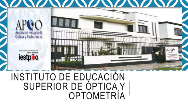 , Escuela Superior de Optica y Optometria